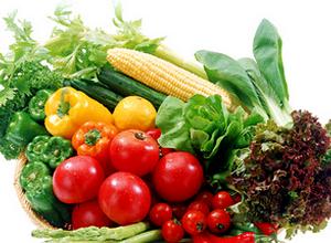 в рацион овощей и фруктов