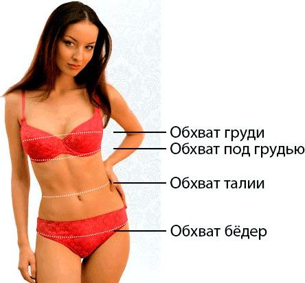 Снимаем мерки женское нижнее белье